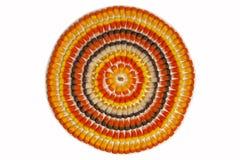 Candy Corn Circles Stock Photos
