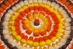 Candy Corn Circles Royalty Free Stock Photos