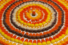 Candy Corn Circles Royalty Free Stock Image