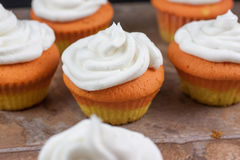 Candy Corn Cupcakes Royalty Free Stock Image