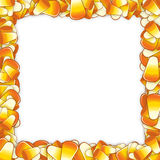 Candy corn frame Stock Images