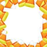 Candy corn frame. Stock Photos