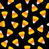 Candy corn. Happy Halloween Seamless Pattern.   Stock Images