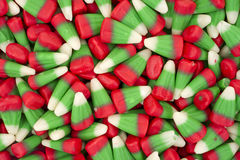 Candy corn in holiday colors Stock Photography