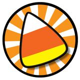 Candy Corn Icon. An illustrated orange Candy icon, isolated on a white background stock illustration
