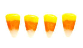 Candy corn isolated on white Royalty Free Stock Photography