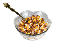 Candy corn meal. Stock Images