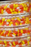 Candy Corn. Packs of candy corn at the store for Halloween and autumn celebrations Stock Photo
