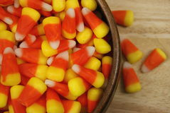 Candy Corn. Poured in a bowl Royalty Free Stock Images