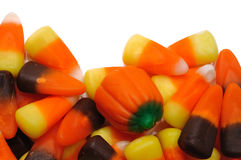 Candy Corn and Pumpkins Royalty Free Stock Images