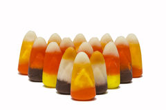 Candy Corn Rows Stock Image