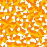 Candy Corn Seamless Background Stock Images