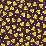 Candy corn seamless pattern Stock Images