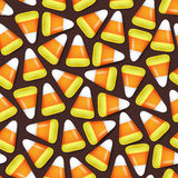 Candy corn seamless pattern vector illustration Stock Photography
