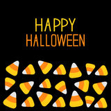 Candy corn set. Happy Halloween card. Flat design. Royalty Free Stock Images