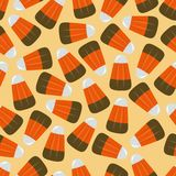 Candy Corn Square Seamless Vector Illustration 1 Stock Image