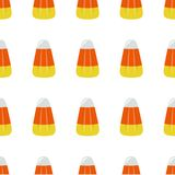 Candy Corn Square Seamless Vector Illustration 2 Royalty Free Stock Images