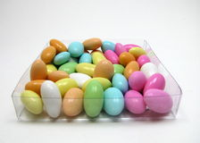 Candy Covered Almonds. Multi colored candy coated almonds Stock Images