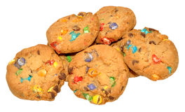 Candy Covered Cookies Stock Images