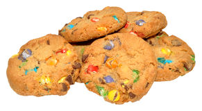 Candy Covered Cookies Stock Photo