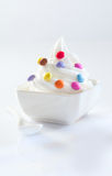 Candy covered soft-serve icecream Stock Photography