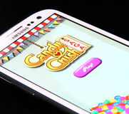 Candy Crush Saga Game Royalty Free Stock Images