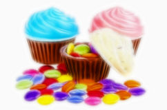 Candy cupcakes Stock Photography