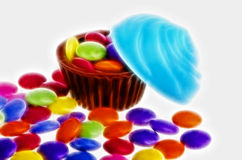 Candy cupcakes Royalty Free Stock Photography
