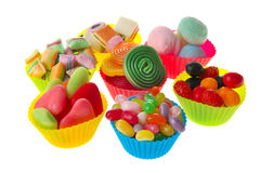 Candy cups Royalty Free Stock Photography