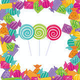 Candy design. Candy digital design, vector illustration 10 eps graphic Royalty Free Stock Image