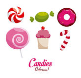 Candy  design. Candy over white background, vector illustration Stock Image