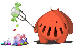 Candy Devil. Cartoon, vector, horizontal, over white,  isolated Stock Image