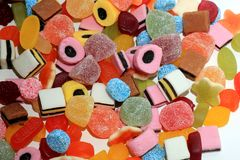 Mixure of candy Stock Photography
