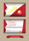 Candy disign. Rad candy disign vector illustration Royalty Free Stock Photography