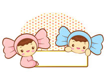 Candy dressed in boys and girls. Valentine Character Design Seri Royalty Free Stock Images