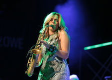 Candy Dulfer live on stage in ICE Cracow Royalty Free Stock Images