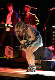 Candy Dulfer live on stage in ICE Cracow Stock Photography