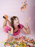 candy dziewczyna Zdjęcie Royalty Free