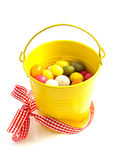 Candy easter bucket Royalty Free Stock Image