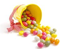 Candy easter bucket Stock Photo
