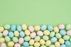 Free Candy Easter Egg Background Green Paper Royalty Free Stock Photo - 144776615