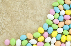 Candy Easter Egg Border royalty free stock images
