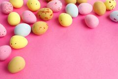 Candy Easter egg border Stock Photography