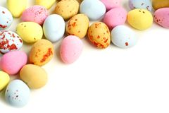 Candy Easter egg border Royalty Free Stock Photography