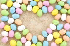 Candy Easter Egg Border Heart Shape Stock Photos