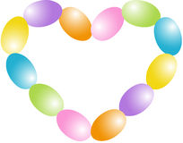 Candy Easter egg  heart shape Stock Photos