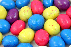 Candy Easter eggs. Closeup of colorful candy Easter eggs Royalty Free Stock Images