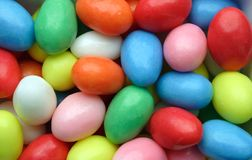 Candy easter eggs. Very colourful sweets in easter egg shape Stock Photo