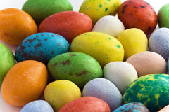 Candy easter eggs. Candy coated chocolate easter eggs royalty free stock image