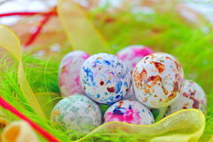 Candy easter eggs Royalty Free Stock Image